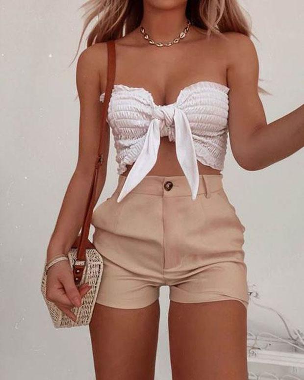 Các kiểu áo croptop buộc vạt khiến các chị em 'mê như điếu đổ' lên ngôi xu hướng mùa hè - Ảnh 10