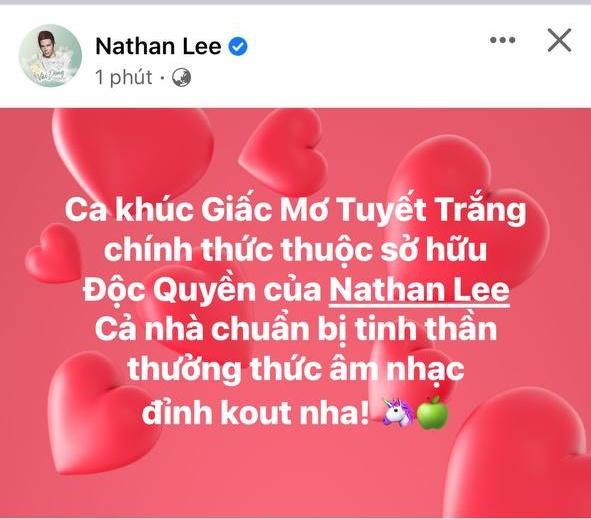 Chính thức: 'Cha đẻ' hit Giấc Mơ Tuyết Trắng của Thủy Tiên lên tiếng thông tin bán độc quyền cho Nathan Lee - Ảnh 1