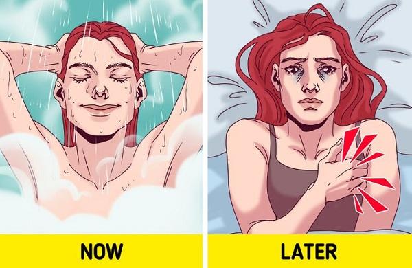 Tại sao không nên tắm trước khi ngủ? - Ảnh 2
