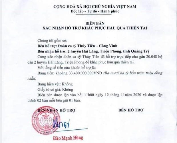Phía Thuỷ Tiên đưa ra lý do việc không thống kê được chính xác số tiền từ thiện ở Quảng Trị? - Ảnh 1