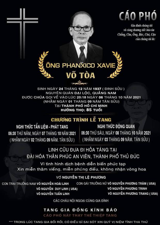 Dương Triệu Vũ thông báo tang sự cho cha, con trai ruột NS Hoài Linh có động thái mới khi hay tin ông nội mất - Ảnh 4