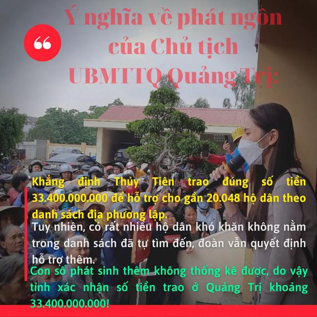 Phía Thuỷ Tiên đưa ra lý do việc không thống kê được chính xác số tiền từ thiện ở Quảng Trị? - Ảnh 4