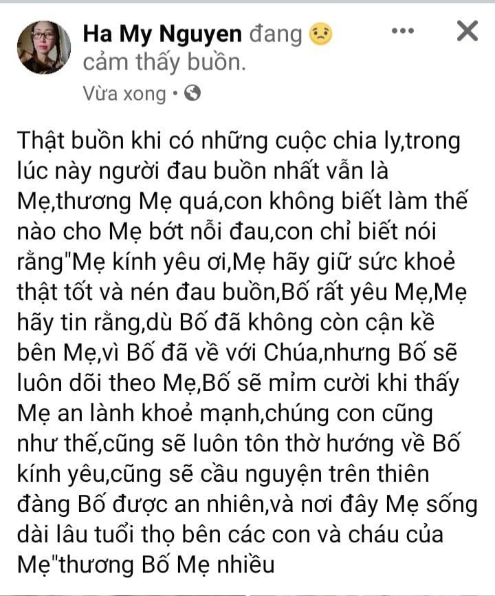 'Vợ Hoài Linh' viết tâm thư sụt sùi nói lời vĩnh biệt 'Bố chồng', nói gì mà người đọc lại vừa khóc vừa cười thế kia? - Ảnh 2