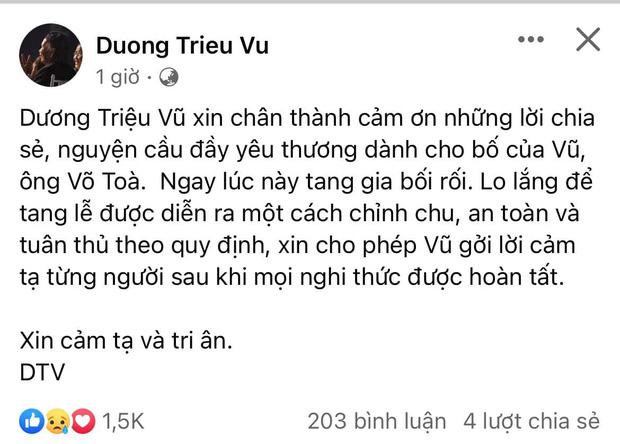 Dương Triệu Vũ thông báo tang sự cho cha, con trai ruột NS Hoài Linh có động thái mới khi hay tin ông nội mất - Ảnh 5
