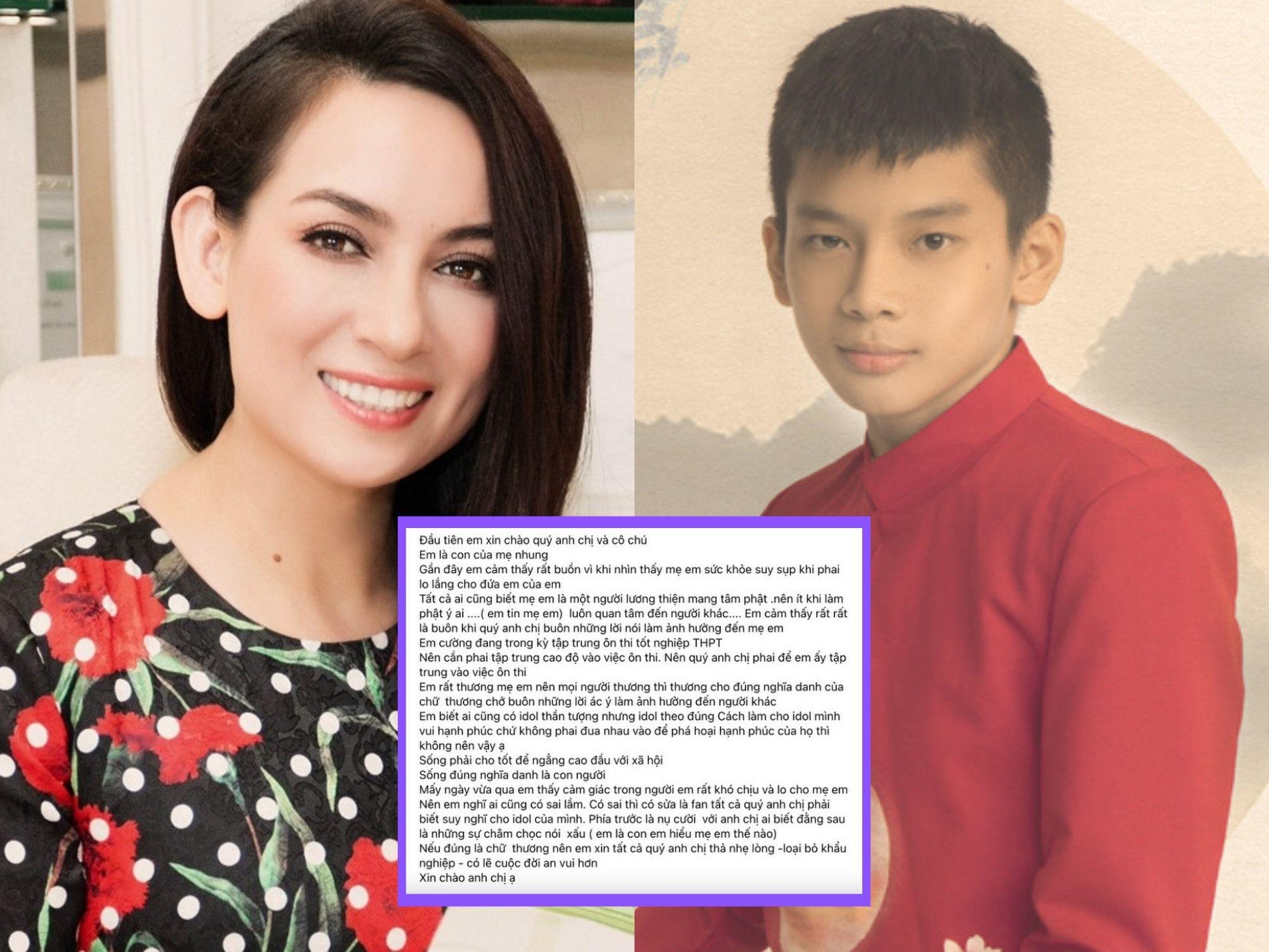 Một con trai nuôi của Phi Nhung lên tiếng bảo vệ mẹ, tiết lộ nữ ca sĩ bị suy sụp nghiêm trọng