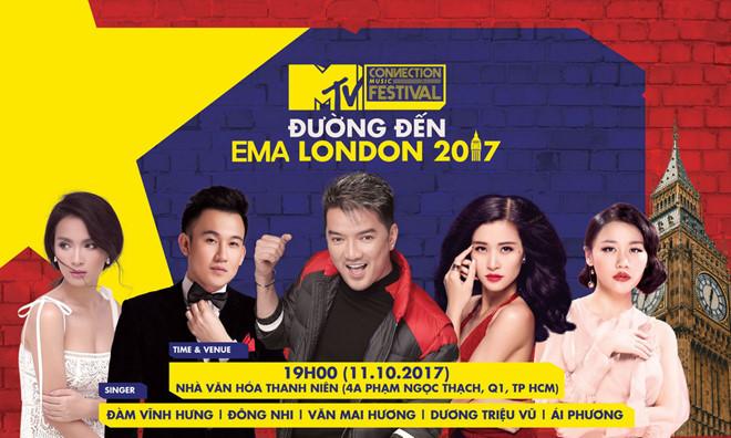 Đàm Vĩnh Hưng nhận được sự ủng hộ của các nghệ sĩ ở MTV EMA 2017