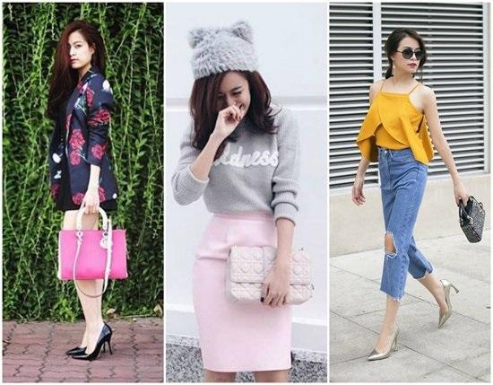 Những chiếc túi Lady Dior, Miss Dior có giá khoảng 3 – 4 nghìn đô (68 – 90 triệu đồng) thường được Hoàng Thùy Linh chọn dùng