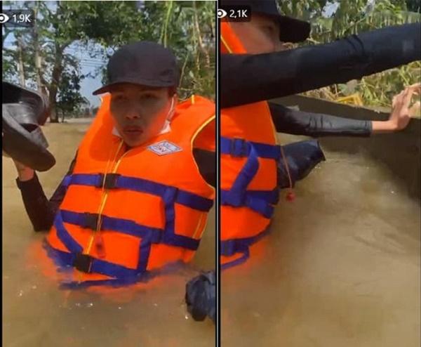 Thuyền lật, xe bị ném đá… và loạt tai nạn khi sao Việt vào miền Trung cứu trợ - Ảnh 2
