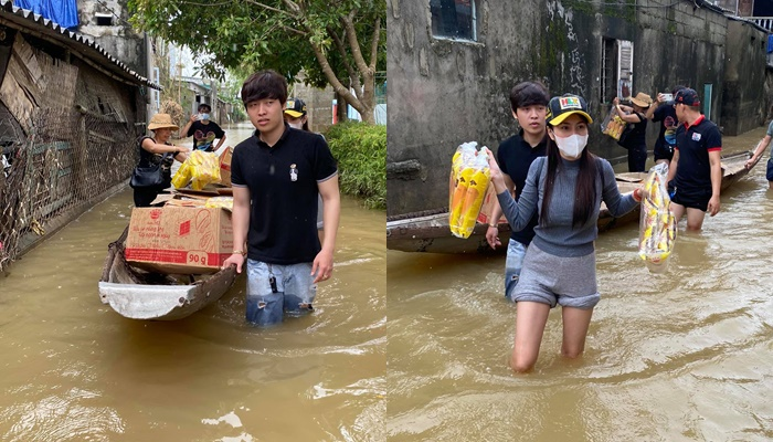 Thuyền lật, xe bị ném đá… và loạt tai nạn khi sao Việt vào miền Trung cứu trợ - Ảnh 8