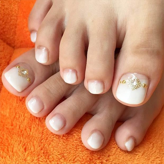 Thiết kế mẫu vẽ móng chân dịu dàng và nữ tính gợi ý cho các chị em lựa chọn