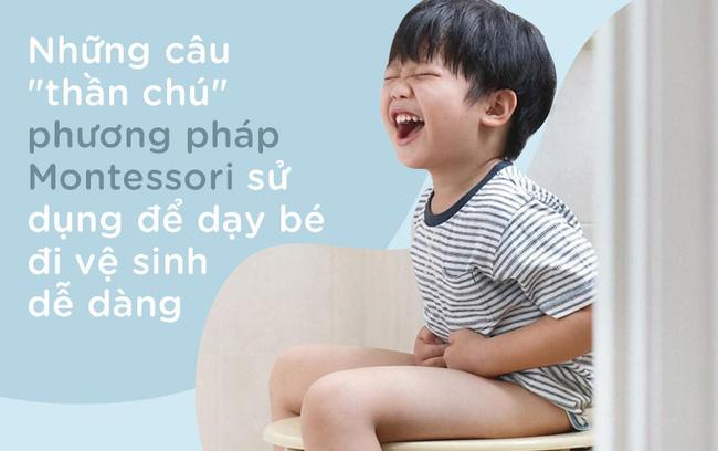 8 câu thần chú từ phương pháp Montessori dạy bé đi vệ sinh dễ dàng - Ảnh 1