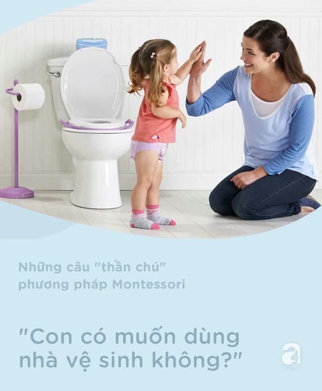 8 câu thần chú từ phương pháp Montessori dạy bé đi vệ sinh dễ dàng - Ảnh 5