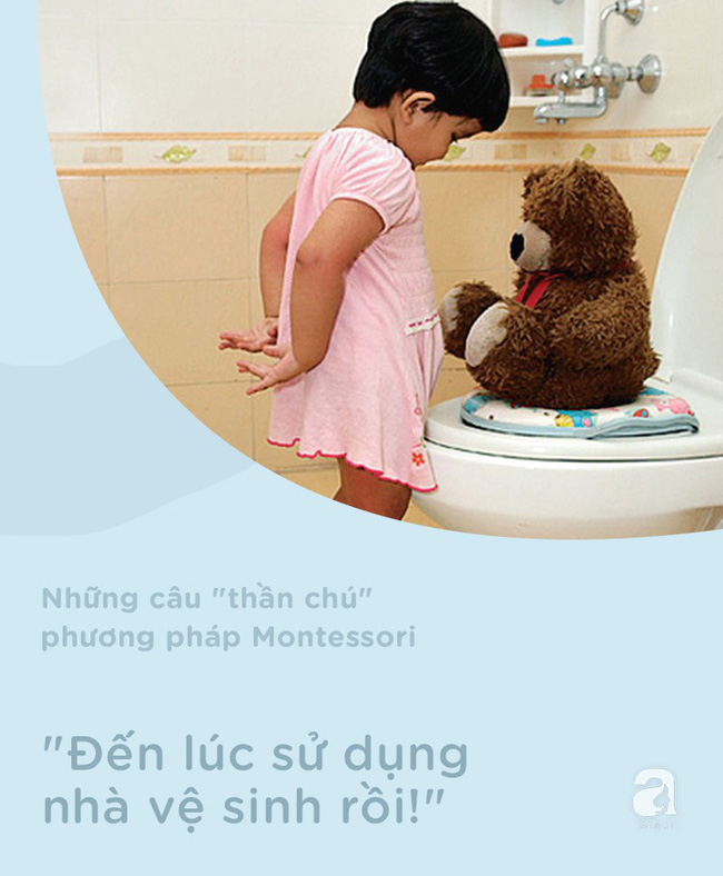 8 câu thần chú từ phương pháp Montessori dạy bé đi vệ sinh dễ dàng - Ảnh 6