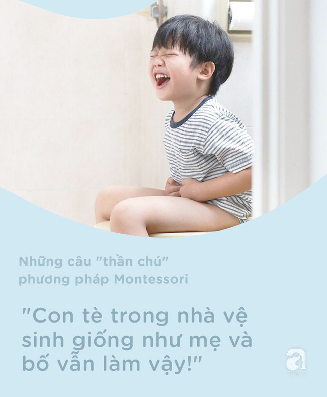 8 câu thần chú từ phương pháp Montessori dạy bé đi vệ sinh dễ dàng - Ảnh 7