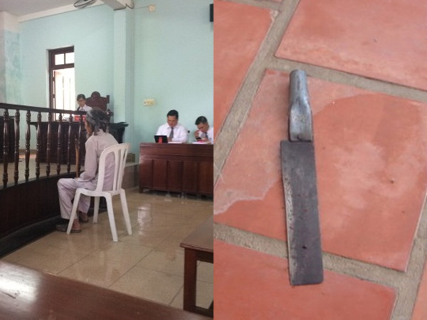 Mâu thuẫn đất đai, cha già 84 tuổi dùng dao chém con trai, cả nhà đưa nhau ra tòa