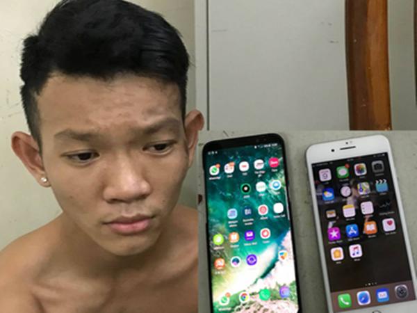 Bắt nóng tên cướp giật điện thoại của cô gái ngoại quốc
