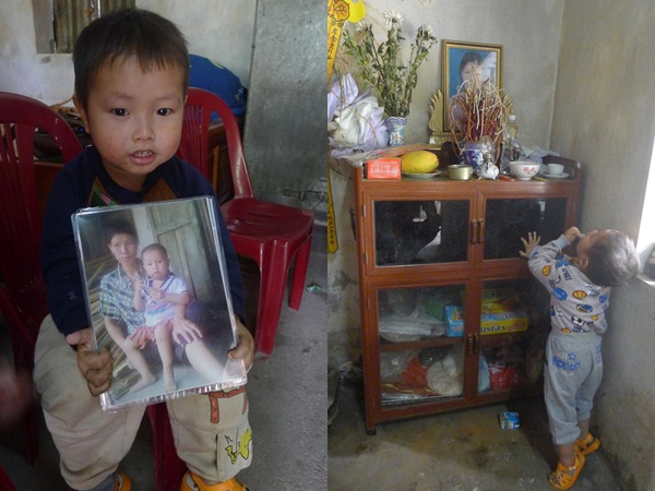 Mẹ mất, bé trai 2 tuổi không cha ngày đêm ôm chặt ảnh mẹ sống cùng ông bà ngoại trong cảnh đói nghèo