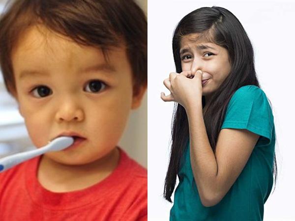 Mẹ nên làm gì khi trẻ bị hôi miệng?