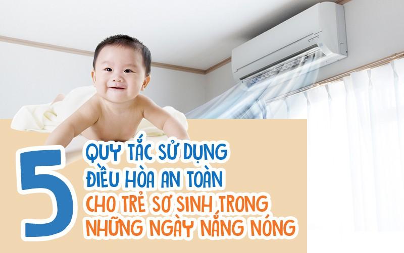 Mẹ phải biết: 5 quy tắc dùng điều hòa để trẻ không bị ốm trong những ngày nắng nóng - Ảnh 1