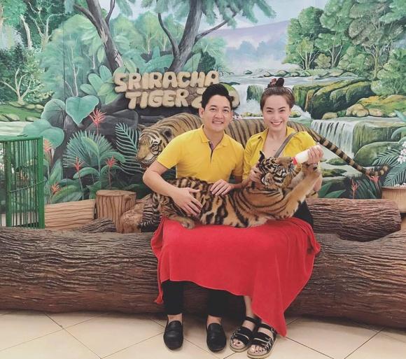 Hải Băng và Thành Đạt 'trốn con', hạnh phúc dắt nhau đi du lịch Thái Lan - Ảnh 1