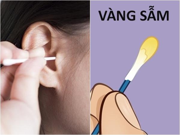 Ngoáy tai xong nhớ nhìn tăm bông để biết tình trạng sức khỏe nhé
