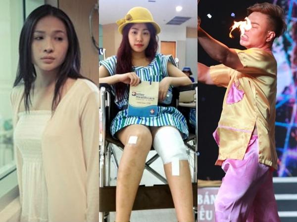 Những sao Việt sơ suất bị bỏng dẫn đến đau đớn và hoảng loạn