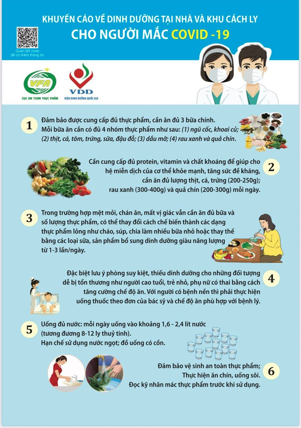 Chế độ dinh dưỡng cho người mắc COVID-19 tại nhà và khu cách ly - Ảnh 3