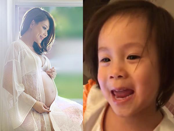 Thanh Thảo xúc động vì con gái nuôi cưng nựng bụng bầu, líu lo hát tặng em bé sắp chào đời