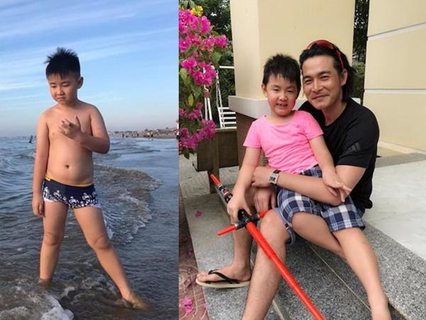 Con trai Lê Phương cao lớn phổng phao, càng ngày càng giống ba như đúc