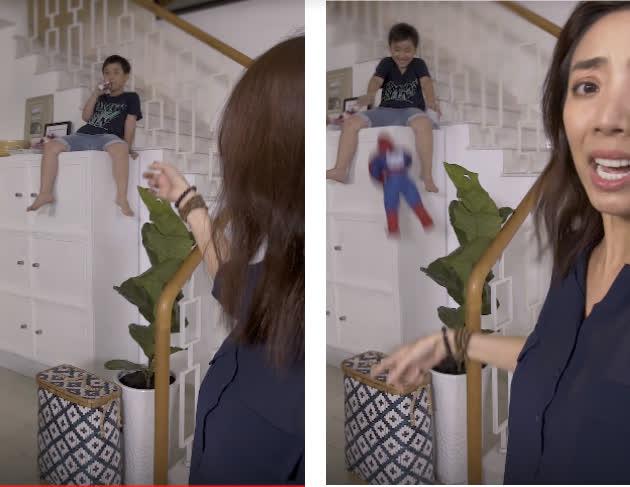 Thu Trang sốc vội tắt livestream vì hành động kì dị của con trai, khán giả rùng mình sợ hãi - Ảnh 4