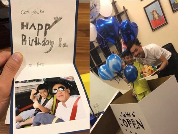 Cường Đô la đón sinh nhật bên Đàm Thu Trang và con trai ở quê nhà