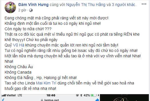 Bị bóc mẽ tật ngủ ngáy, Đàm Vĩnh Hưng không ngại chỉ thẳng mặt Vũ Hà: 'Chuyên mặc quần lót ren khi ngủ' - Ảnh 2