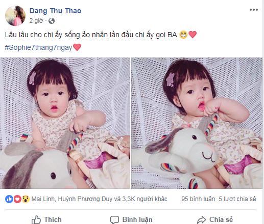 Chỉ vài biểu cảm, con gái Hoa hậu Đặng Thu Thảo hớp hồn cư dân mạng vì giống hệt búp bê - Ảnh 1