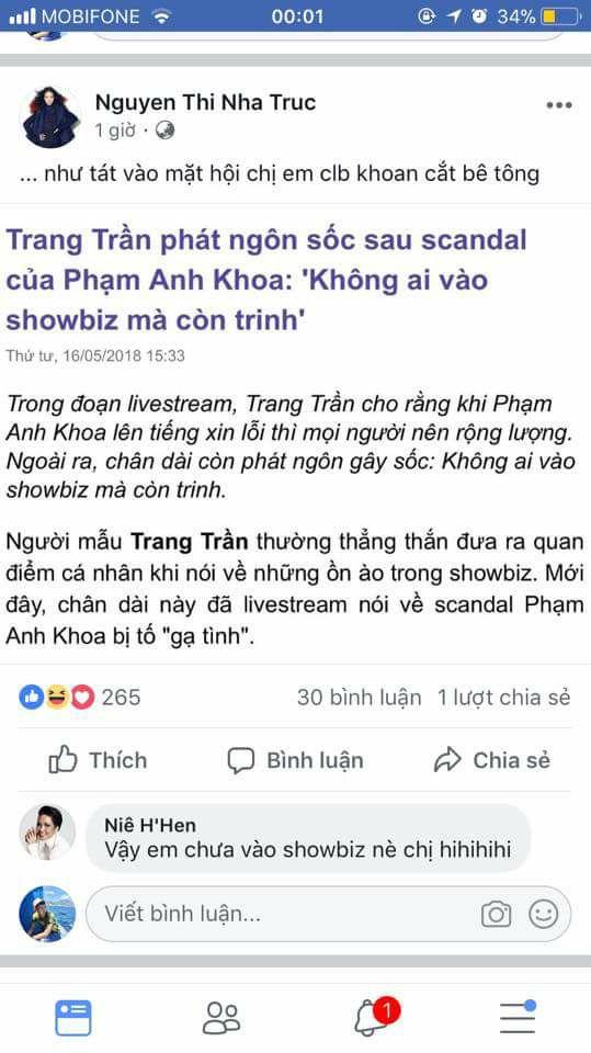 H'Hen Niê phản ứng sốc khi Trang Trần tuyên bố 'Không có cô gái nào vào showbiz mà còn trinh' - Ảnh 3