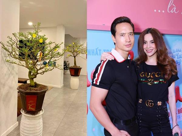 Hà Hồ bất ngờ khoe quà Tết tuyệt đẹp của Kim Lý trong căn hộ triệu đô