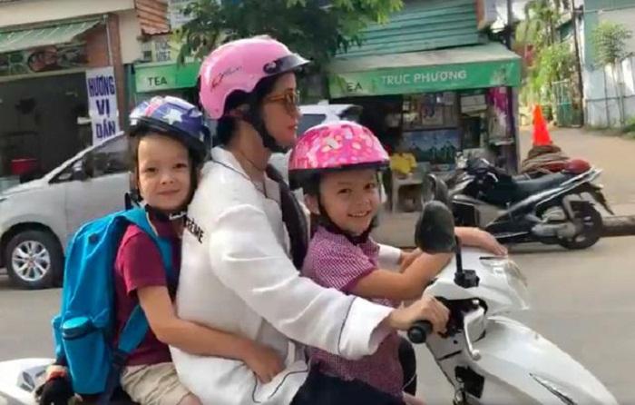 Cuộc sống mẹ đơn thân vất vả, di chuyển bằng xe máy của Hồng Nhung bên hai con sau ly hôn - Ảnh 4