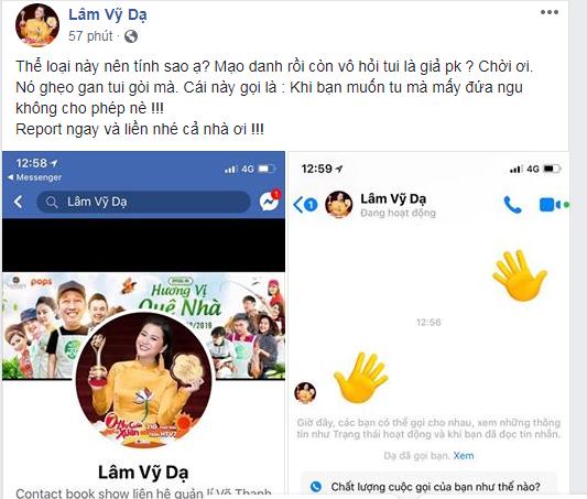 Fan choáng khi Lâm Vỹ Dạ đòi 'táng vào mặt' kẻ nhắn tin làm phiền - Ảnh 1