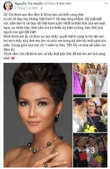 Hiếm khi bàn chuyện thị phi showbiz nhưng lần này Hoa hậu Nguyễn Thị Huyền quyết làm điều này vì H'Hen Niê - Ảnh 2