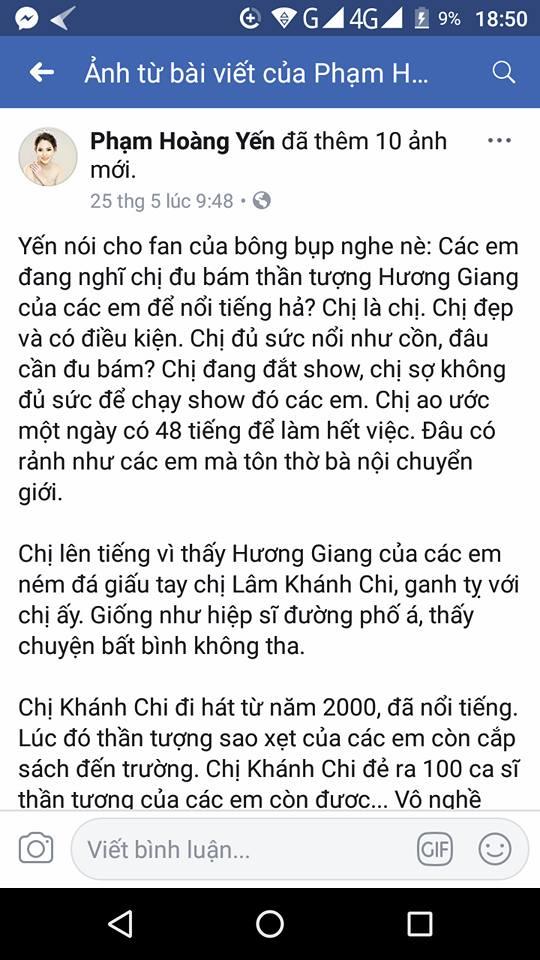 Phạm Hoàng Yến gây phẫn nộ khi công khai xúc phạm giới tính Hương Giang: 'Cắt đi rồi không biết có mọc lại?' - Ảnh 6