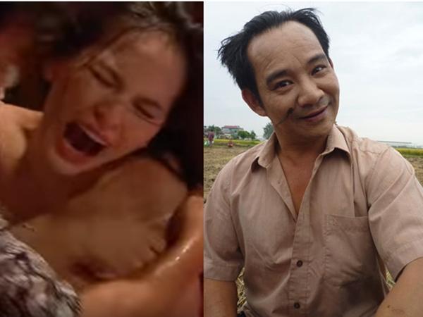 Phi Huyền Trang bị Quang Tèo xé áo lộ ngực trần phản cảm trong phim hài Tết