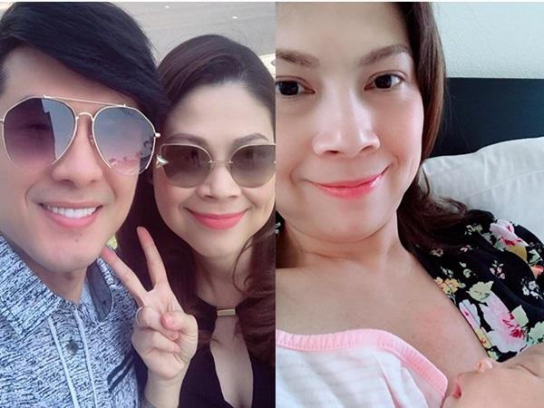 Sau khoảnh khắc selfie long lanh trên mạng xã hội, Thanh Thảo lộ mặt mộc phờ phạc vì thức đêm chăm con