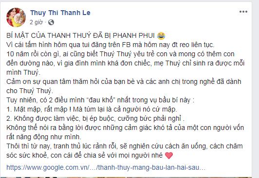 Sau nghi án ly hôn Đức Thịnh, Thanh Thúy bất ngờ thừa nhận mang bầu lần 2 - Ảnh 1