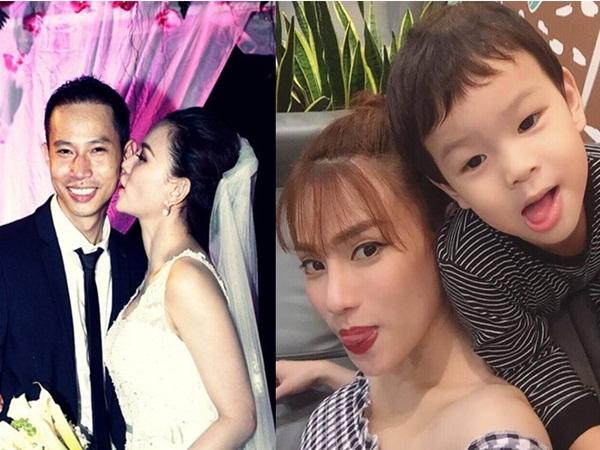 Ly hôn chồng, Thu Thủy một mình chăm sóc con trai bị ốm khiến fan vô cùng xót xa