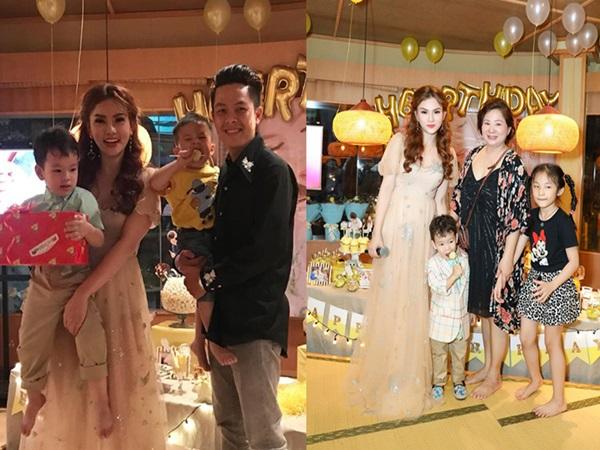 Thu Thủy tổ chức sinh nhật cho con trai, vẫn không thấy bóng dáng chồng cũ