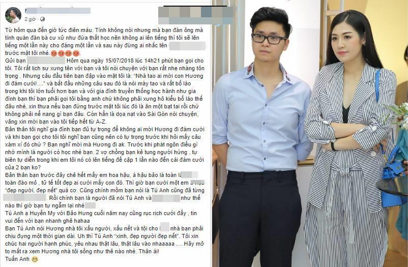 Quản lý Văn Mai Hương tiết lộ cuộc gọi sốc của chồng Tú Anh: 'Nhà tao ai mời con Hương đi đám cưới?' - Ảnh 3