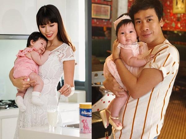Con gái Hà Anh 2 tháng tuổi đã nặng gần 8kg gây sốt mạng xã hội