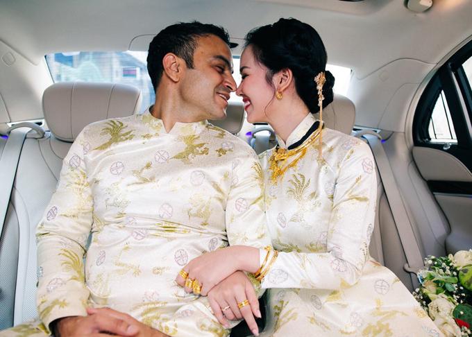 Ghen tỵ với loạt ảnh Võ Hạ Trâm đeo vàng nặng nhức cả cổ và tay trong ngày kết hôn với chồng Ấn Độ - Ảnh 1