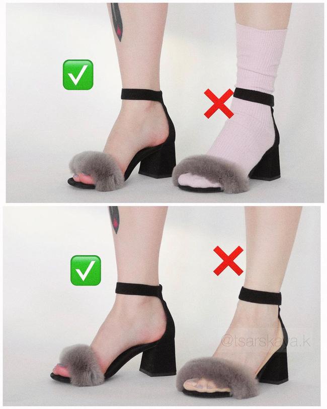 Một lỗi sai khi đi giày/sandals mà nhiều chị em không để ý, nhưng lại khiến trang phục kém sang trầm trọng - Ảnh 5