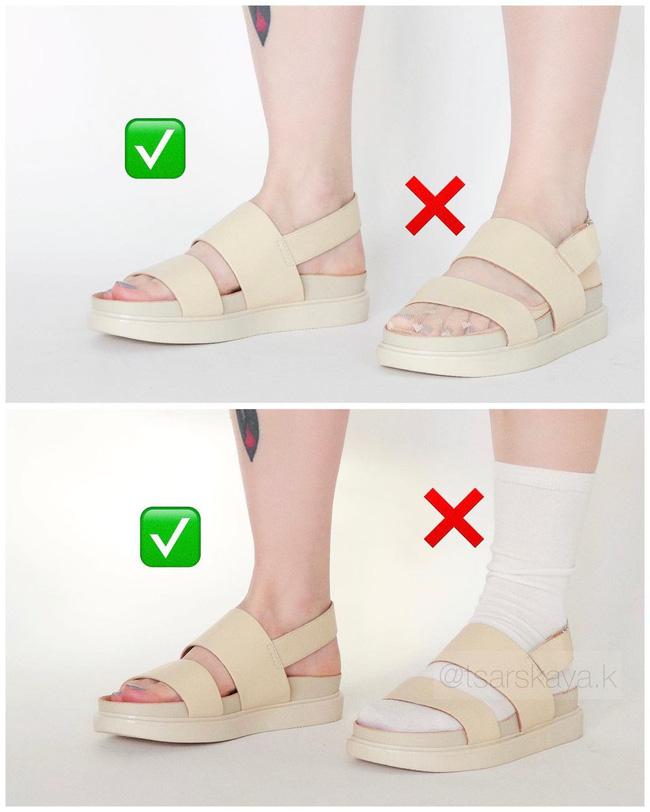 Một lỗi sai khi đi giày/sandals mà nhiều chị em không để ý, nhưng lại khiến trang phục kém sang trầm trọng - Ảnh 4
