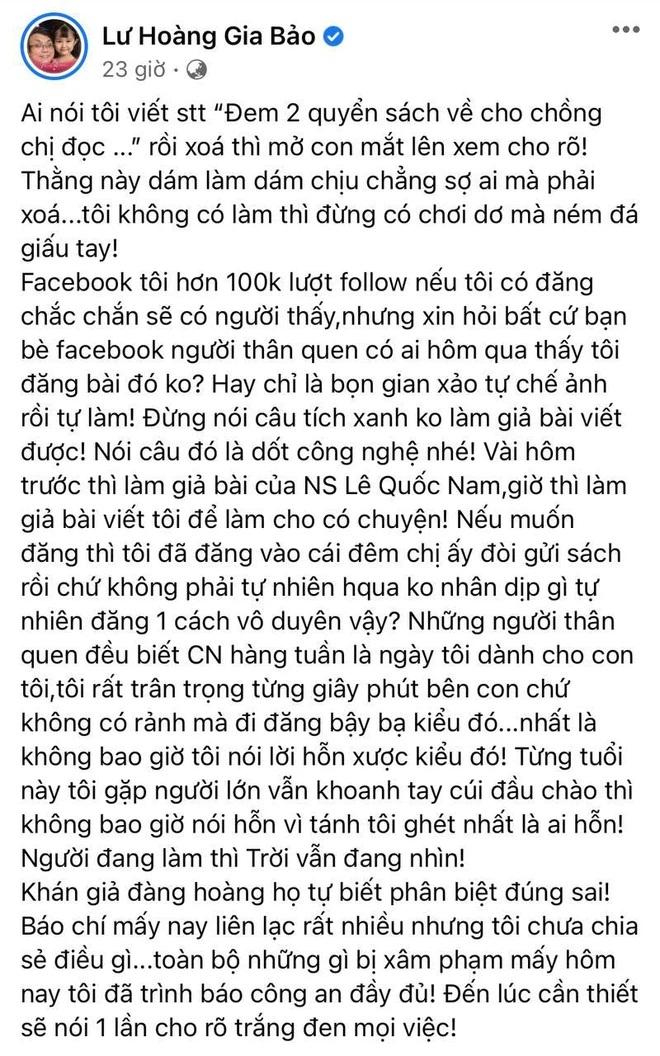 Gia Bảo làm rõ lùm xùm viết status 'đá xéo' đại gia Phương Hằng, tiết lộ tình tiết liên quan đến cơ quan chức năng - Ảnh 1